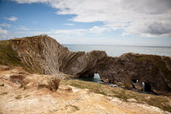 Cliffs at the south coast of England Royalty Free Stock Image