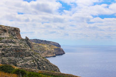 Cliffs at south of Malta. Rocky Cliffs at south of Malta Island, EU Royalty Free Stock Photography