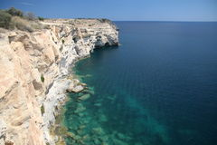 Cliffs - South point of Malta. Great view from 50m high cliffs Stock Images