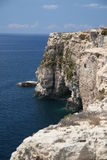 Cliffs - South point of Malta. Great view from 50m high cliffs Royalty Free Stock Photo