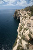 Cliffs - South point of Malta. Great view from 50m high cliffs (Filfla island on horizon Stock Images