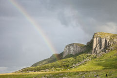 Cliffs of Staffin on the Isle of Skye in Scotland. Royalty Free Stock Photos