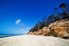 Cliffs on a sunny beach Royalty Free Stock Photos