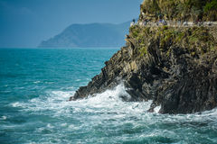 Cliffs in the surf - Cinqueterre coast line (2) Stock Photos