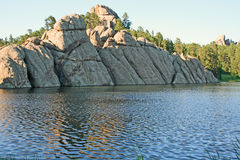 Cliffs on Sylvan Lake Royalty Free Stock Photo