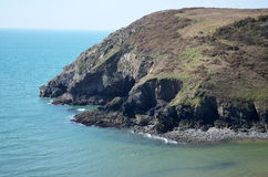 Cliffs. Taken in Pembrokeshire, April 2014. Solva Royalty Free Stock Photography