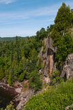 Cliffs at Tettegouche State Park Stock Photo
