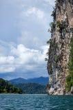 Cliffs. At Thailand, beautiful lake Royalty Free Stock Photo