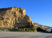 Cliffs at Torrey Pines State Beach, La Jolla, California royalty free stock images