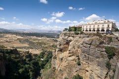 Cliffs under Ronda town Stock Photos