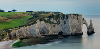 Cliffs of upper Normandy Royalty Free Stock Photos