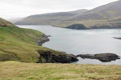 Cliffs on Vagar Royalty Free Stock Photos