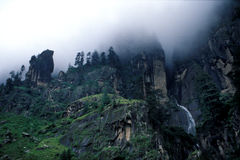 Cliffs of Vashisht Royalty Free Stock Photos