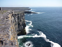 Cliffs. View on the cliffs and the Atlantic Ocean in Inis Mor, Ireland stock photos