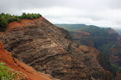 Cliffs of Waimea Canyon Hawaii Royalty Free Stock Image