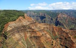 Cliffs of Waimea Canyon Royalty Free Stock Photography