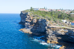 Cliffs at Watsons bay Sydney. Watsons bay is located 11km East of Sydneys CBD Stock Images