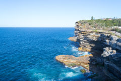 Cliffs at Watsons bay Sydney. Watsons bay is located 11km East of Sydneys CBD Royalty Free Stock Photography