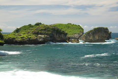 Cliffs by Watu Karung beach Stock Photo