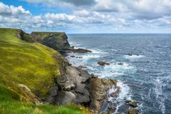 Cliffs and waves near Kilkee, County Clare, Ireland Stock Image