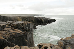 Cliffs, Way to Galway - Ireland Stock Photo
