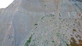 Cliffs at West Bay Dorset. Ascending aerial drone shot of the cliffs west of West Bay, on the Dorset Jurassic Coast stock video