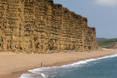 Cliffs at West Bay - Jurassic Coast - Dorset - England Stock Photography