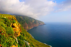 Cliffs, west coast of Madeira, Portugal Stock Photography