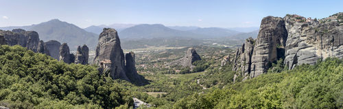 Orthodox monasteries of Meteora Greece Royalty Free Stock Photo