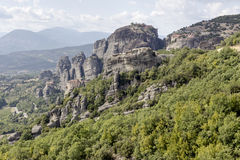Orthodox monasteries of Meteora Greece Stock Photography