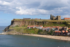 Cliffs in Whitby, England Stock Photos