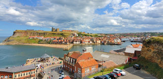 Cliffs in Whitby, England Royalty Free Stock Photo