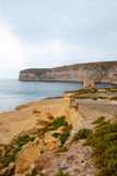 Cliffs at Xlendi, Gozo, Malta Stock Photography