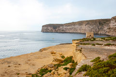 Cliffs at Xlendi, Gozo, Malta Royalty Free Stock Photo