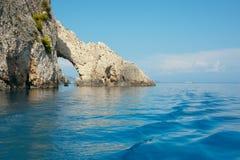 Cliffs on Zakynthos. Royalty Free Stock Photos