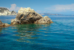 Cliffs on Zakynthos. Royalty Free Stock Images