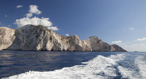 Cliffs of Zakynthos Stock Photo