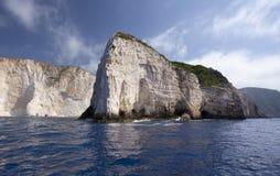 Cliffs of Zakynthos, Greece Royalty Free Stock Image