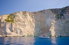 Cliffs of Zakynthos island, Greece stock photos