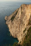 Cliffs of Zakynthos Island, Greece Stock Image