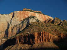 Cliffs in zion. National park during sunset Royalty Free Stock Photos