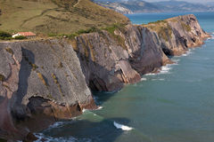 Cliffs in Zumaia Stock Photos