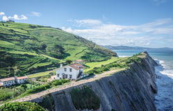 Cliffs in Zumaia, Spain Stock Images