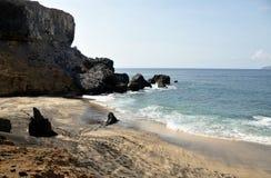 Cliffside beach stock photo
