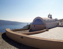 Cliffside chapel in Oia, Santorini Stock Photo