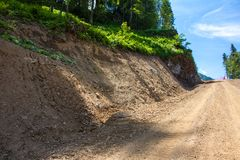 Cliffside Dirt Road Royalty Free Stock Photos