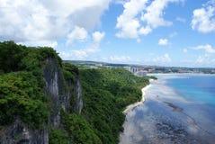 Cliffside en la punta de dos amantes en Guam Fotografía de archivo libre de regalías