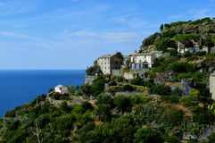 Cliffside houses Royalty Free Stock Photos