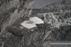 Cliffside miejsca siedzące Obrazy Royalty Free