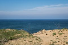 Cliffside of the Ocean Stock Photography